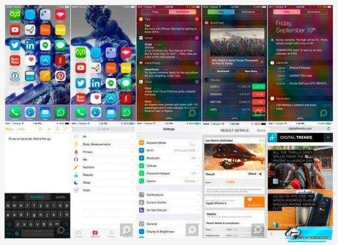 iOS 8 и приложения iPhone 6