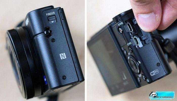 Sony RX100 III - Разъемы, Wi-Fi, NFC и приложения
