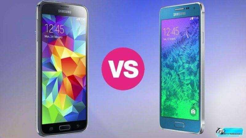 Сравнение Samsung Galaxy Альфа и Samsung Galaxy S5