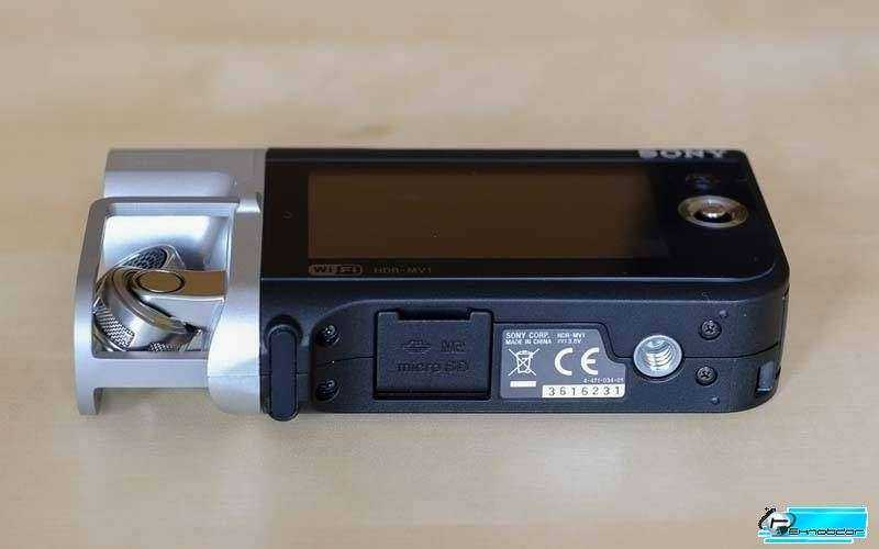 Sony HDR-MV1- низ камеры