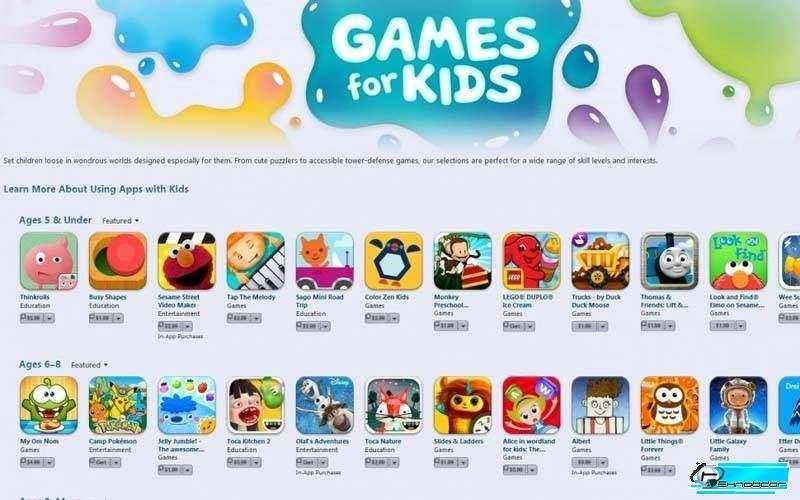 Apple добавляет возрастные подкатегории для детей на App Store
