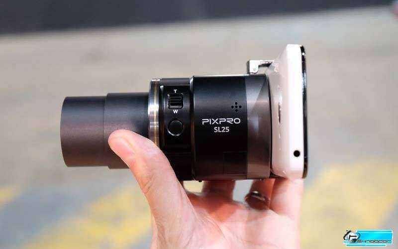 Kodak PIXPRO SL25 и смартфон