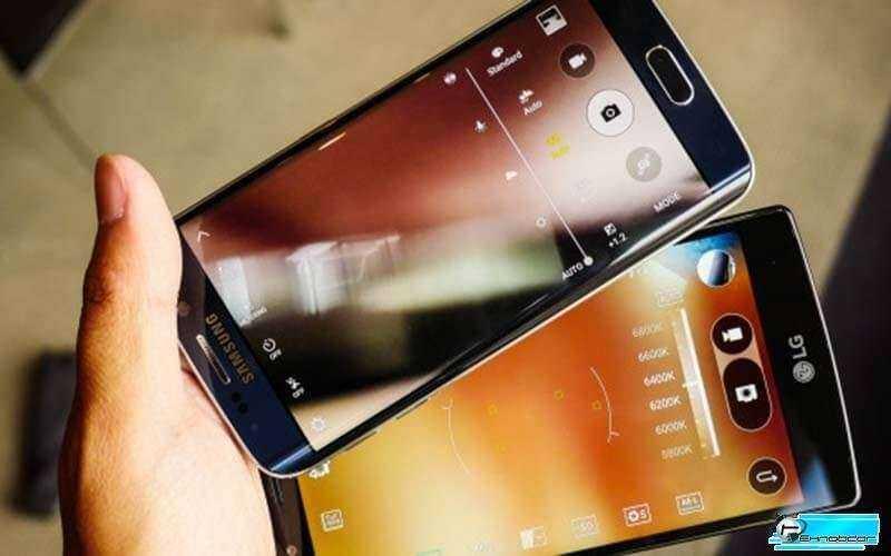 Телефоны LG G4 и Samsung Galaxy S6 Edge