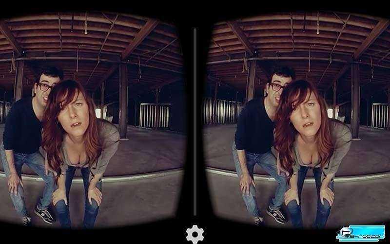 Samsung Gear VR вид изнутри