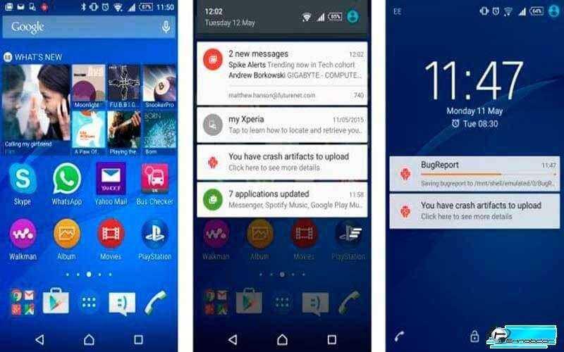 Интерфейс Sony Xperia M4 Aqua
