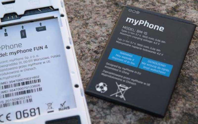 MyPhone Fun 4 батарея