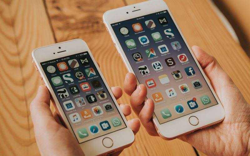 Размеры iPhone 6 и SE