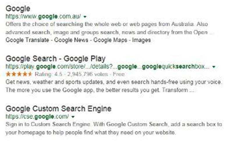 Google - новый вид отображения результатов