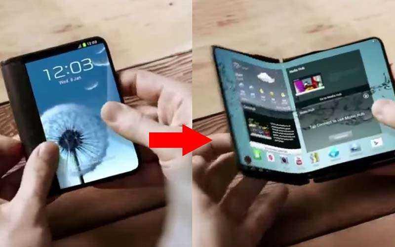 Телефон с гибким экраном Samsung Galaxy X
