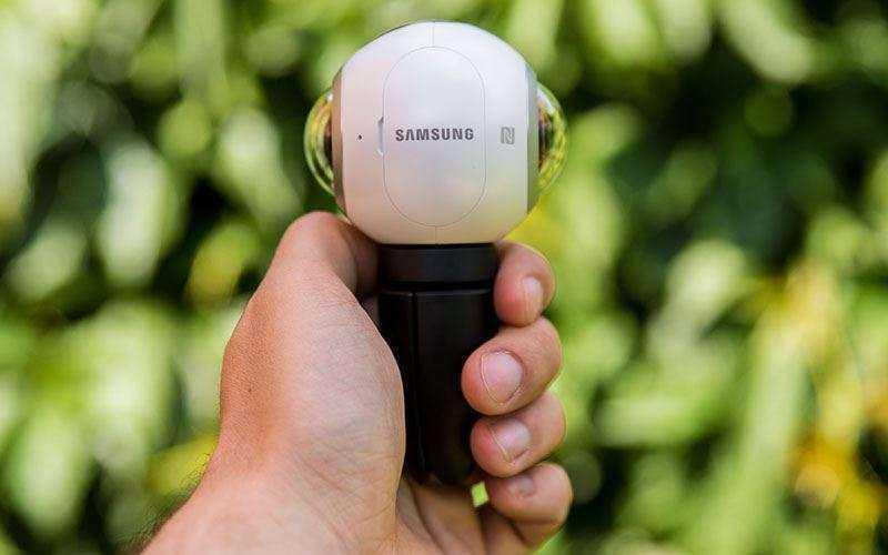 Galaxy к Samsung Gear 360 съемка с рук