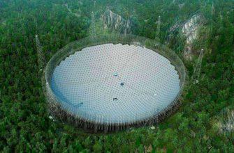 """Самый большой в мире телескоп """"FAST"""" постоен в Китае"""