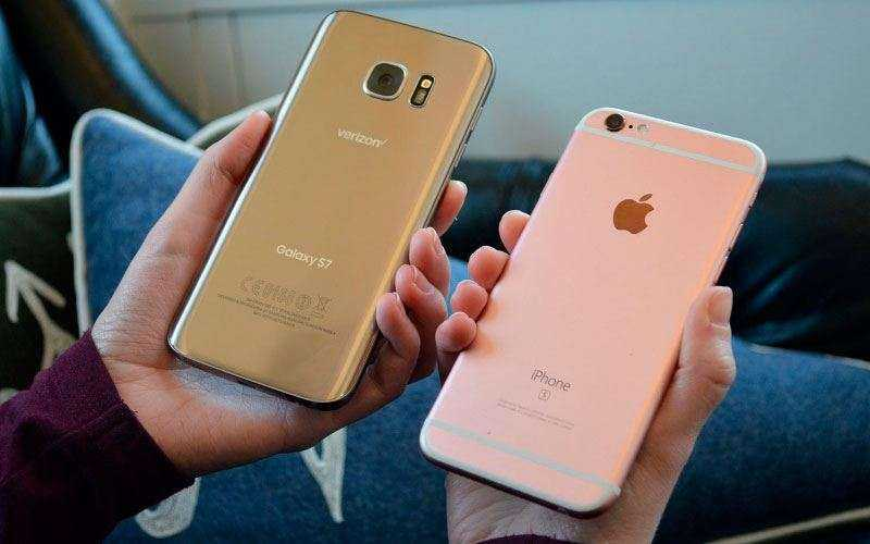 Samsung Galaxy S7 и Apple iPhone 6S Plus cpflb