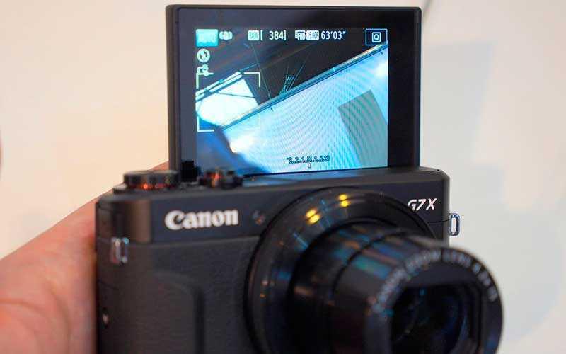 Canon PowerShot G7X Mark II экран