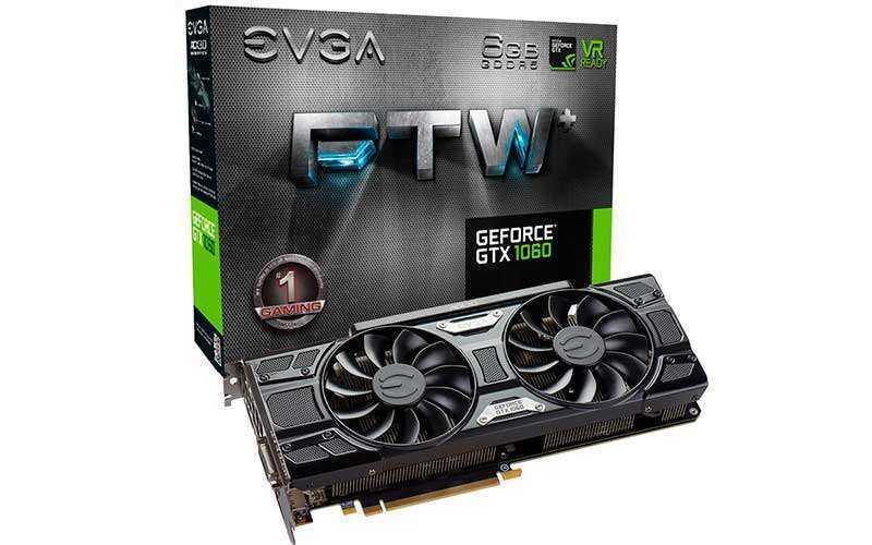 EVGA на базе Nvidia GeForce GTX 1060