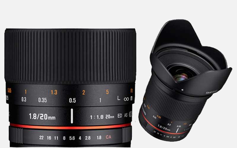 Samyang 20 мм F / 1.8 объективы