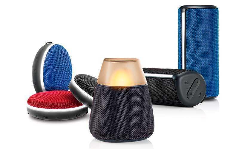 LG PH2, PH3 и PH4 - Новые Bluetooth-динамики со звуком 360 градусов