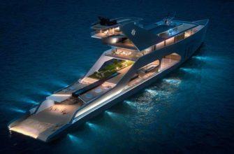 Мега-яхта 108M имеет свой собственный сад и пляж
