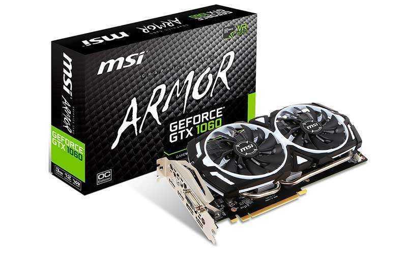 MSI GeForce GTX 1060 Armor 3G