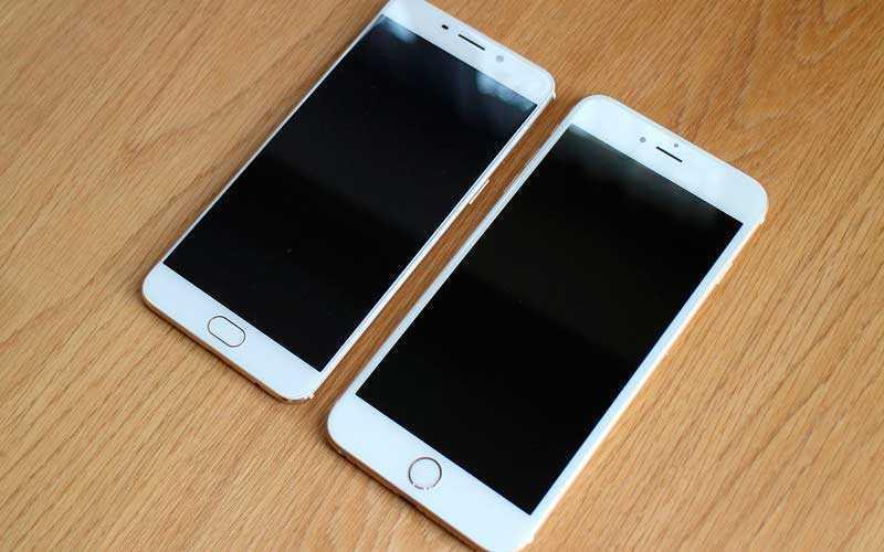 Oppo F1 Plus и iPhone 6 Plus