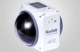 Камера Kodak Pixpro 360 4KVR360 имеет два объектива