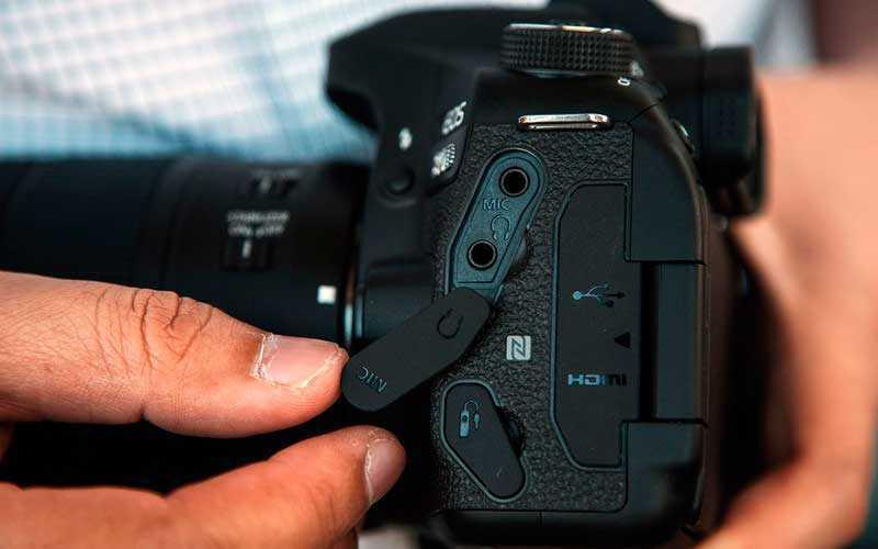 Canon EOS 80D аудио разьем
