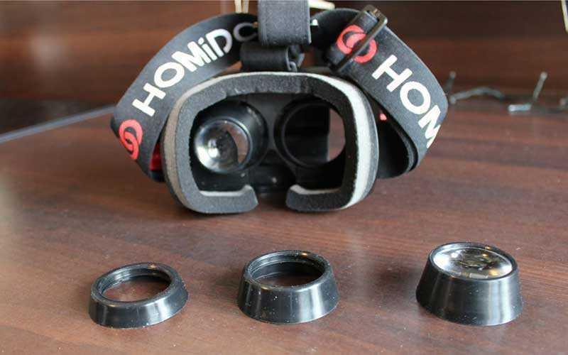 птика в очках Homido VR