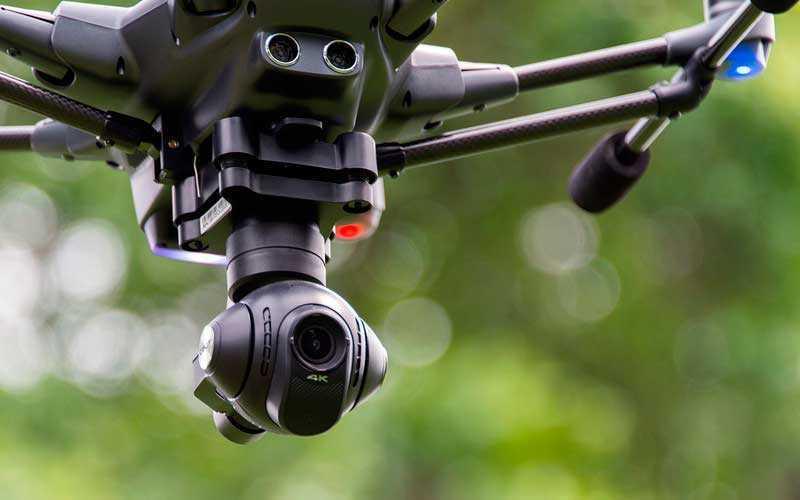 камера в полете Yuneec Typhoon H