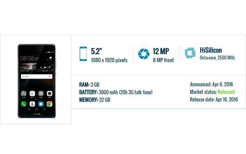 характеристики Huawei P9