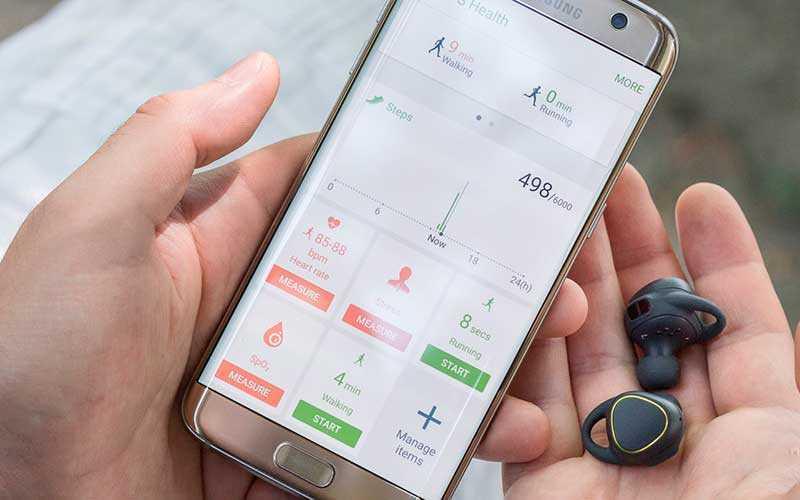 прилжение Samsung Gear IconX