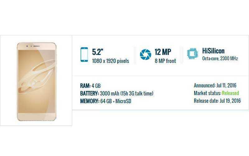 характеристики Huawei Honor 8