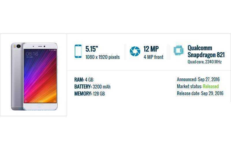 характеристики Xiaomi Mi 5s и Xiaomi Mi 5s Plus