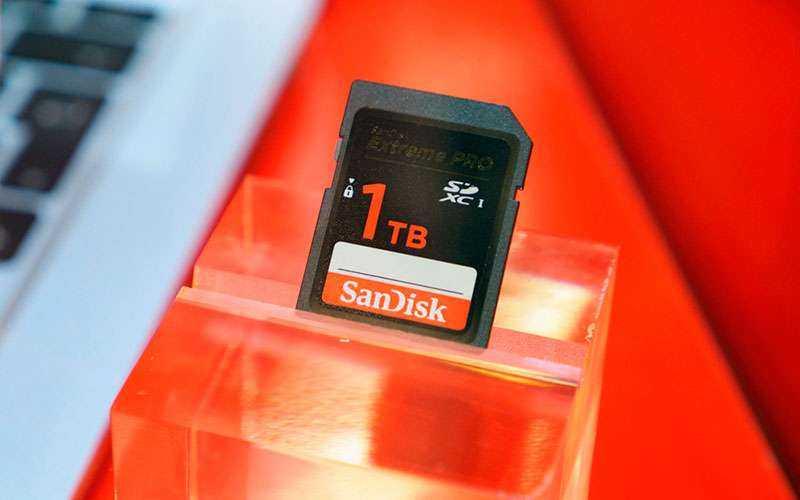 Вместимость или объем карт памяти