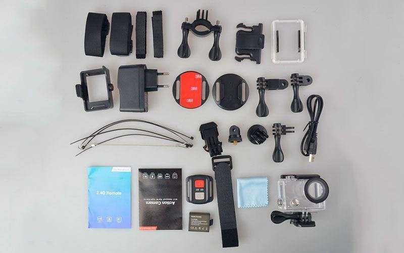 Камера EKEN H8 Pro комплектация
