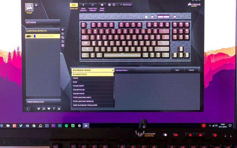 ПО для Corsair K65 RGB