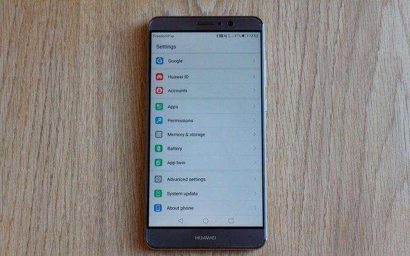 интерфейс Huawei Mate 9
