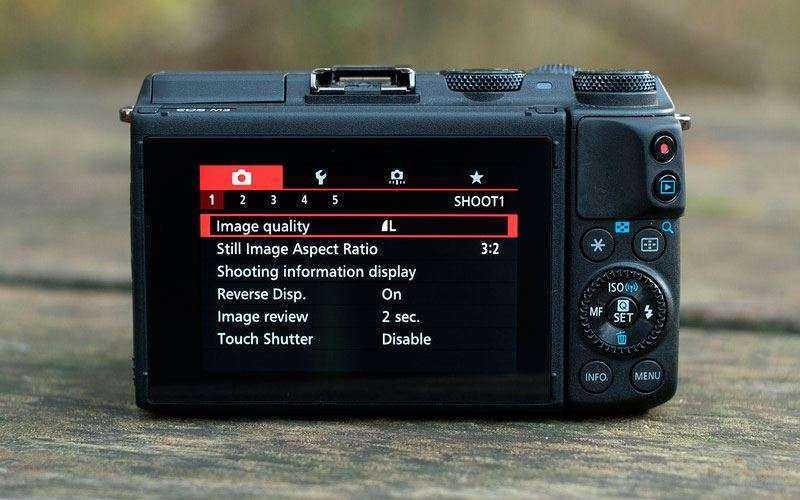 Canon EOS M3 меню