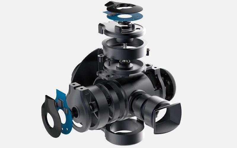 4K экшн камера Zerotech Rollcap со встроенной 3-осевой стабилизацией