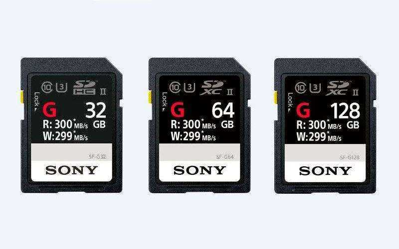 Новые SD карты Sony SF-G