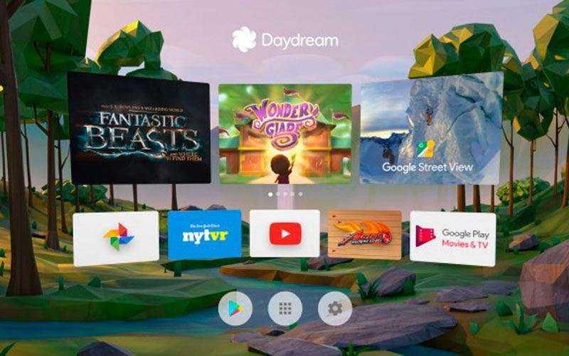 интерфейс Google Daydream View