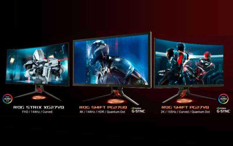 Новые игровые мониторы Asus ROG Swift