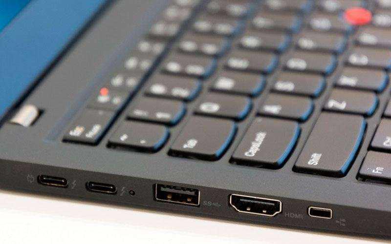 Порты Lenovo ThinkPad X1 Carbon (2017)