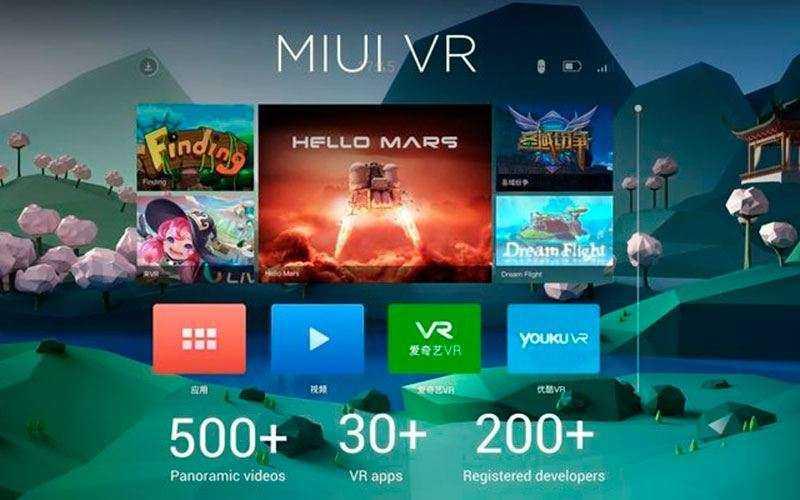 Программы Xiaomi Mi VR