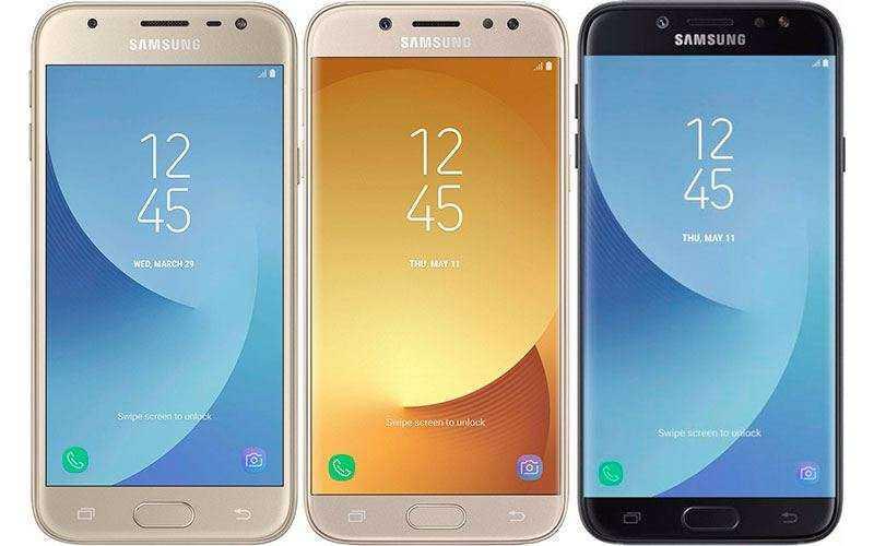 Samsung представила Android-смартфоны Galaxy J3, Galaxy J5 и Galaxy J7 (2017)