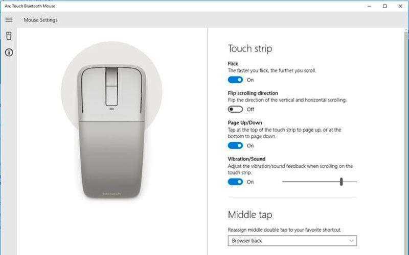 Настройка Microsoft Arch Touch Bluetooth Mouse