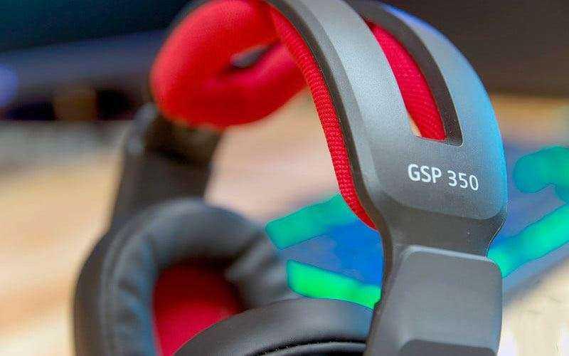 Игровые наушники Sennheiser GSP 350 из коробки