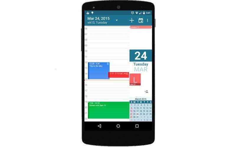 aCalendar – Календарь для Android