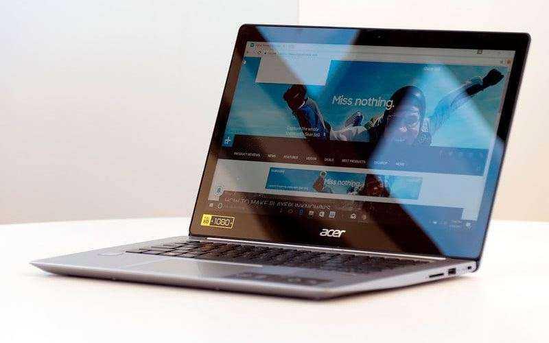 Acer Swift 3 — Обзор бюджетного ноутбука с топовыми функциями