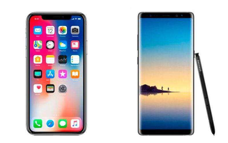 Apple iPhone X против Samsung Galaxy Note 8: сравнение на 1000$