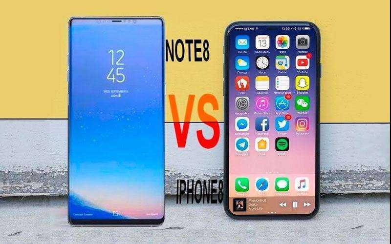 Характеристики iPhone X и Galaxy Note 8