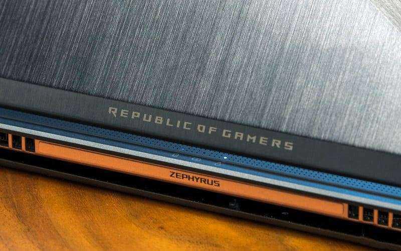 Дизайн Asus ROG Zephyrus GX501V